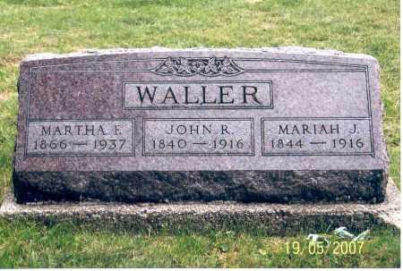 WALLER, JOHN R. - Ross County, Ohio | JOHN R. WALLER - Ohio Gravestone Photos