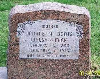 WALSH MICK, MINNIE V. - Ross County, Ohio | MINNIE V. WALSH MICK - Ohio Gravestone Photos