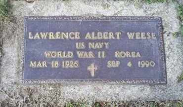 WEESE, LAWRENCE ALBERT - Ross County, Ohio   LAWRENCE ALBERT WEESE - Ohio Gravestone Photos
