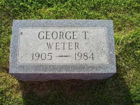 WETER, GEORGE T. - Ross County, Ohio | GEORGE T. WETER - Ohio Gravestone Photos