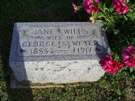 WETER, JANE - Ross County, Ohio   JANE WETER - Ohio Gravestone Photos