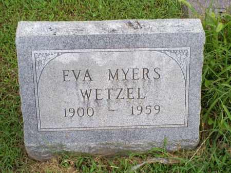 MYERS WETZEL, EVA - Ross County, Ohio   EVA MYERS WETZEL - Ohio Gravestone Photos