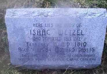 WETZEL, ISAAC - Ross County, Ohio   ISAAC WETZEL - Ohio Gravestone Photos