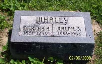 WHALEY, MARTHA A. - Ross County, Ohio | MARTHA A. WHALEY - Ohio Gravestone Photos