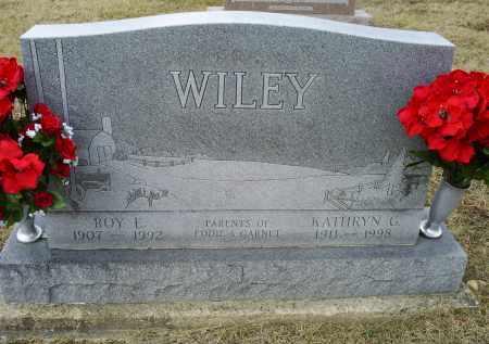 WILEY, ROY E. - Ross County, Ohio | ROY E. WILEY - Ohio Gravestone Photos