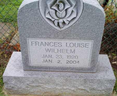 WILHELM, FRANCES LOUISE - Ross County, Ohio   FRANCES LOUISE WILHELM - Ohio Gravestone Photos