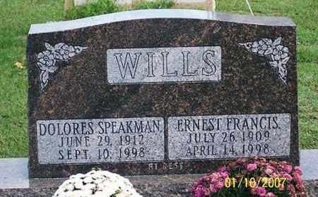SPEAKMAN WILLS, DOLORES - Ross County, Ohio | DOLORES SPEAKMAN WILLS - Ohio Gravestone Photos
