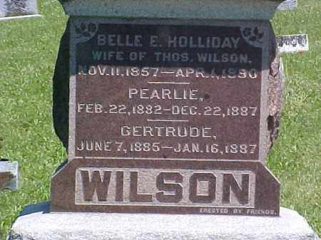WILSON, BELLE E - Ross County, Ohio   BELLE E WILSON - Ohio Gravestone Photos