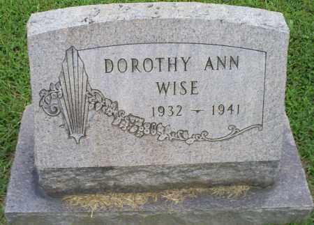WISE, DOROTHY ANN - Ross County, Ohio   DOROTHY ANN WISE - Ohio Gravestone Photos