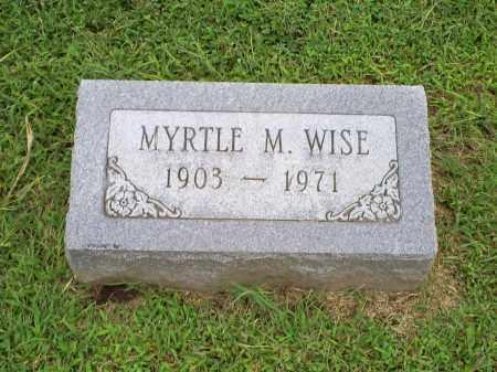 WISE, MYRTLE M - Ross County, Ohio | MYRTLE M WISE - Ohio Gravestone Photos