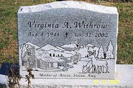 WITHROW, VIRGINIA A. - Ross County, Ohio | VIRGINIA A. WITHROW - Ohio Gravestone Photos
