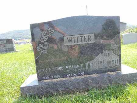 WITTER, D - Ross County, Ohio | D WITTER - Ohio Gravestone Photos