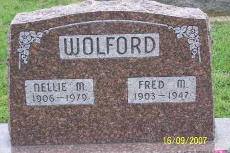 WOLFORD, FRED M. - Ross County, Ohio | FRED M. WOLFORD - Ohio Gravestone Photos