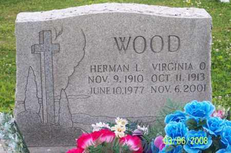 WOOD, HERMAN L. - Ross County, Ohio | HERMAN L. WOOD - Ohio Gravestone Photos