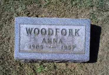 WOODFORK, ANNA - Ross County, Ohio | ANNA WOODFORK - Ohio Gravestone Photos