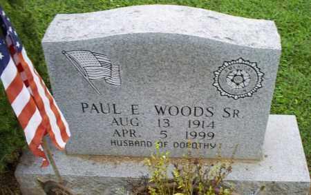 WOODS, PAUL E. SR. - Ross County, Ohio | PAUL E. SR. WOODS - Ohio Gravestone Photos