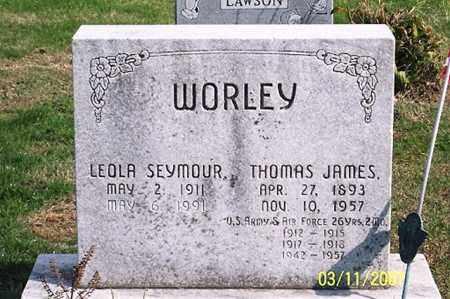 SEYMOUR WORLEY, LEOLA - Ross County, Ohio | LEOLA SEYMOUR WORLEY - Ohio Gravestone Photos