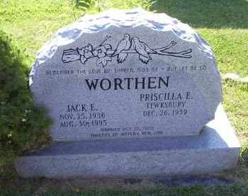 WORTHEN, JACK E. - Ross County, Ohio | JACK E. WORTHEN - Ohio Gravestone Photos