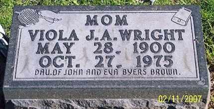 BROWN WRIGHT, VIOLA J. A. - Ross County, Ohio | VIOLA J. A. BROWN WRIGHT - Ohio Gravestone Photos