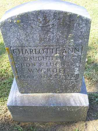 WYCKOFF, CHARLOTTE ANN - Ross County, Ohio | CHARLOTTE ANN WYCKOFF - Ohio Gravestone Photos