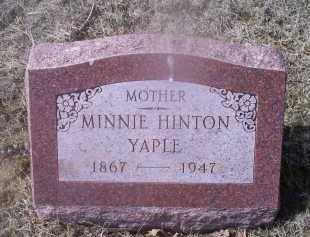 HINTON YAPLE, MINNIE - Ross County, Ohio | MINNIE HINTON YAPLE - Ohio Gravestone Photos