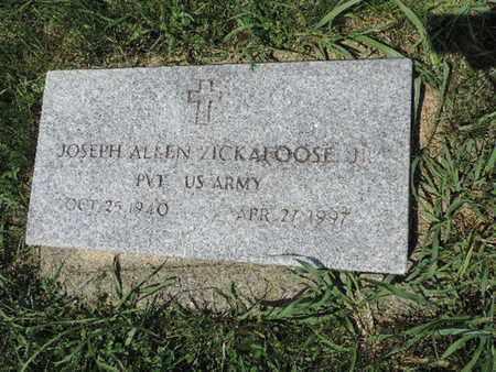 ZICKAFOOSE, JOSEPH ALLEN - Ross County, Ohio   JOSEPH ALLEN ZICKAFOOSE - Ohio Gravestone Photos