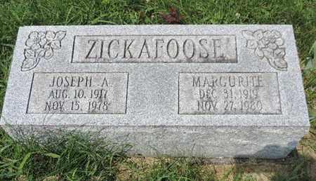 ZICKAFOOSE, MARGURITE - Ross County, Ohio | MARGURITE ZICKAFOOSE - Ohio Gravestone Photos