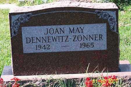 DENNEWITZ ZONNER, JOAN MAY - Ross County, Ohio | JOAN MAY DENNEWITZ ZONNER - Ohio Gravestone Photos