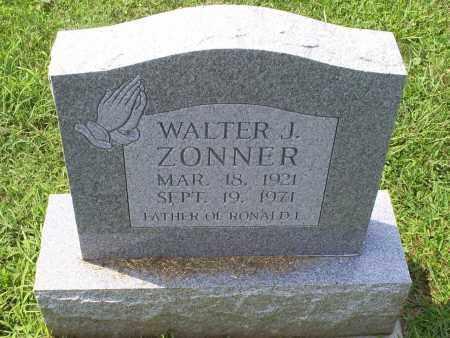 ZONNER, WALTER J. - Ross County, Ohio | WALTER J. ZONNER - Ohio Gravestone Photos