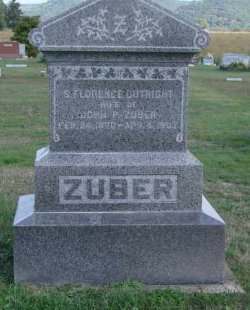 CUTRIGHT ZUBER, S FLORENCE - Ross County, Ohio | S FLORENCE CUTRIGHT ZUBER - Ohio Gravestone Photos