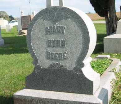 BEEBE, MARY RYDN - Sandusky County, Ohio | MARY RYDN BEEBE - Ohio Gravestone Photos