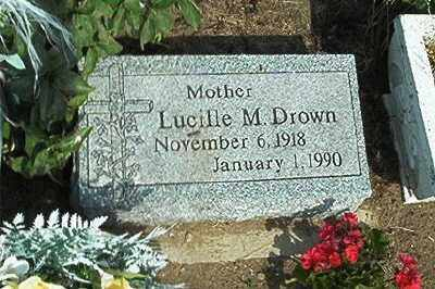 DROWN, LUCILLE M - Sandusky County, Ohio   LUCILLE M DROWN - Ohio Gravestone Photos