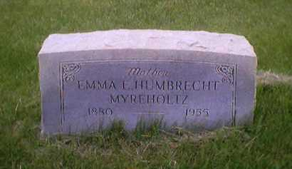 MYREHOLTZ, EMMA E. - Sandusky County, Ohio | EMMA E. MYREHOLTZ - Ohio Gravestone Photos