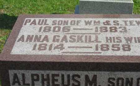 TEW, PAUL - Sandusky County, Ohio | PAUL TEW - Ohio Gravestone Photos