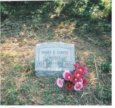 THOMPSON DAVIS, MARY E - Scioto County, Ohio   MARY E THOMPSON DAVIS - Ohio Gravestone Photos