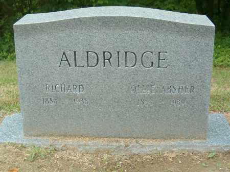 ABSHER ALDRIDGE, OLLIE - Scioto County, Ohio | OLLIE ABSHER ALDRIDGE - Ohio Gravestone Photos