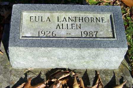 LANTHORNE ALLEN, EULA - Scioto County, Ohio | EULA LANTHORNE ALLEN - Ohio Gravestone Photos