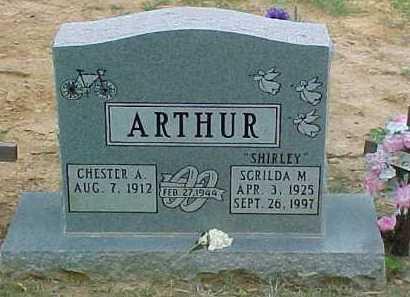 ARTHUR, SCRILDA M. - Scioto County, Ohio | SCRILDA M. ARTHUR - Ohio Gravestone Photos