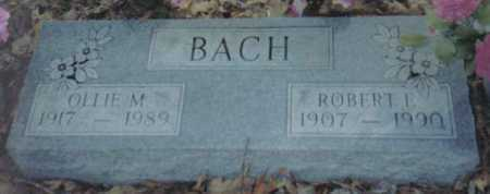 BACH, OLLIE M. - Scioto County, Ohio | OLLIE M. BACH - Ohio Gravestone Photos