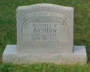 BASHAW, RUSSELL W. - Scioto County, Ohio | RUSSELL W. BASHAW - Ohio Gravestone Photos