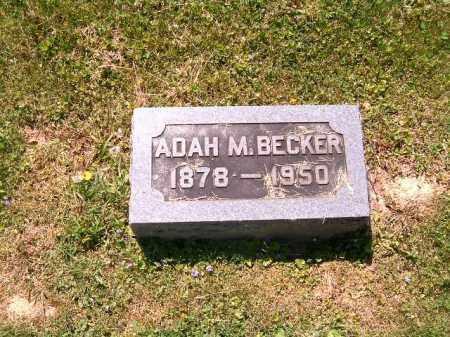BECKER, ADAH  M - Scioto County, Ohio | ADAH  M BECKER - Ohio Gravestone Photos