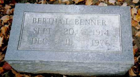 BENNER, BERTHA L. - Scioto County, Ohio | BERTHA L. BENNER - Ohio Gravestone Photos