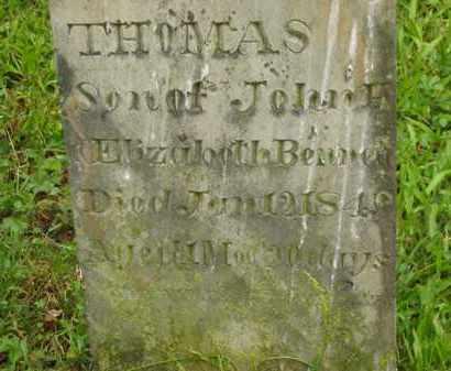 BENNETT, THOMAS - Scioto County, Ohio | THOMAS BENNETT - Ohio Gravestone Photos