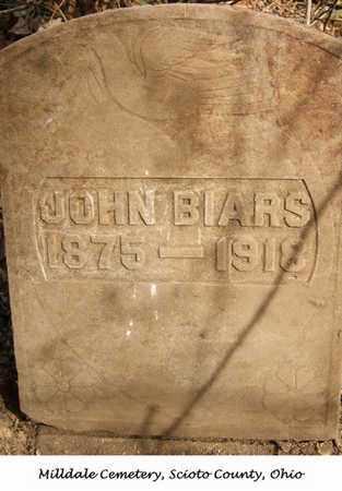 BIARS, JOHN - Scioto County, Ohio | JOHN BIARS - Ohio Gravestone Photos