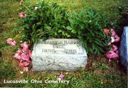 BICE, SUSANNAH - Scioto County, Ohio | SUSANNAH BICE - Ohio Gravestone Photos