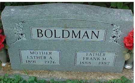 BOLDMAN, FRANK M. - Scioto County, Ohio | FRANK M. BOLDMAN - Ohio Gravestone Photos