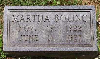 GRUBBS BOLING, MARTHA - Scioto County, Ohio | MARTHA GRUBBS BOLING - Ohio Gravestone Photos