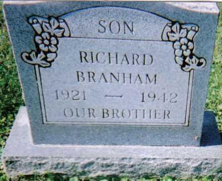 BRANHAM, RICHARD - Scioto County, Ohio   RICHARD BRANHAM - Ohio Gravestone Photos