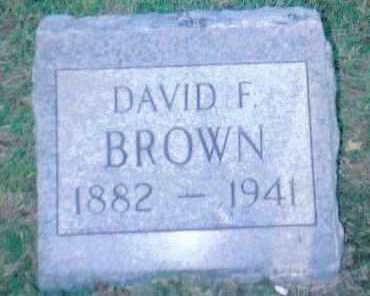 BROWN, DAVID F. - Scioto County, Ohio   DAVID F. BROWN - Ohio Gravestone Photos