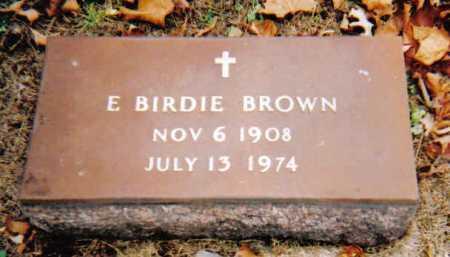 BROWN, E. BIRDIE - Scioto County, Ohio | E. BIRDIE BROWN - Ohio Gravestone Photos